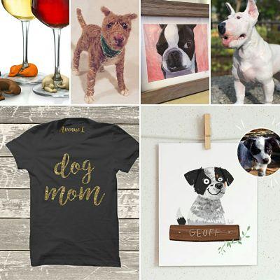 Fred&Friends, Meika via Mandy Stadtmiller, BTArt, Sarah Carmody's Bull Terrier Sculpture, The AvenueL Dog Mom Tee, Ana Mikulic's Geoff
